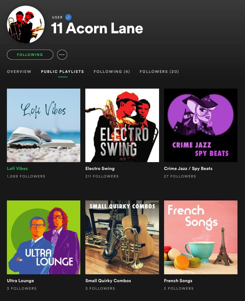 11 Acorn Lane - Spotify Playlists